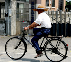 mexican man on bicycle